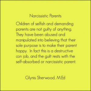 Narcissistic Parents Glynis Sherwood Video Counseling