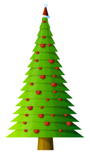 modern tree christmas clipart